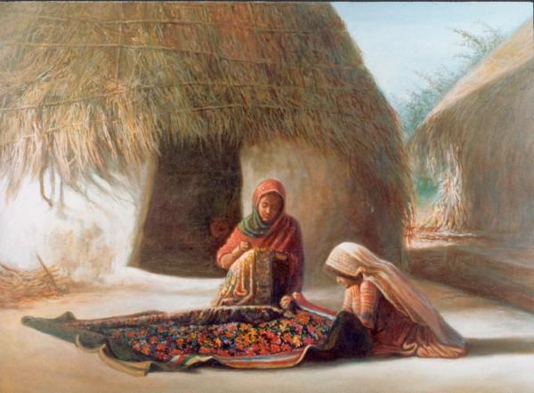 Painting - Village (1)