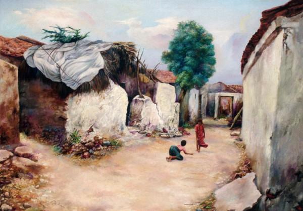 Painting - Village (12)