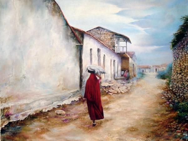 Painting - Village (13)