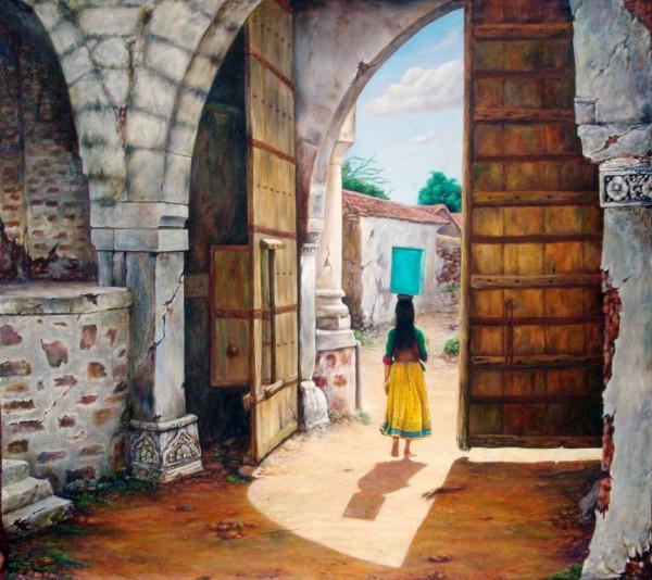 Painting - Village (14)