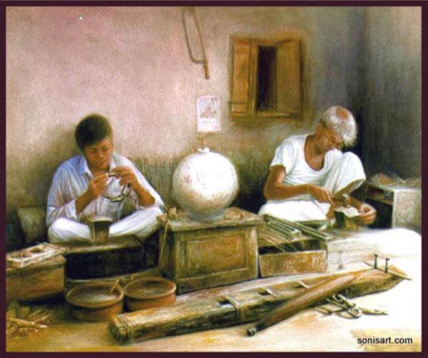Painting - Village (18)