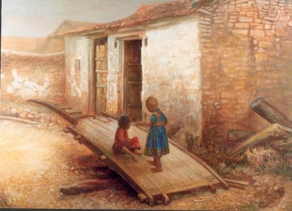 Painting - Village (2)
