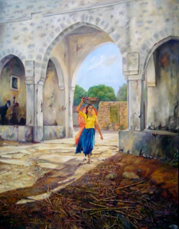 Painting - Village (7)