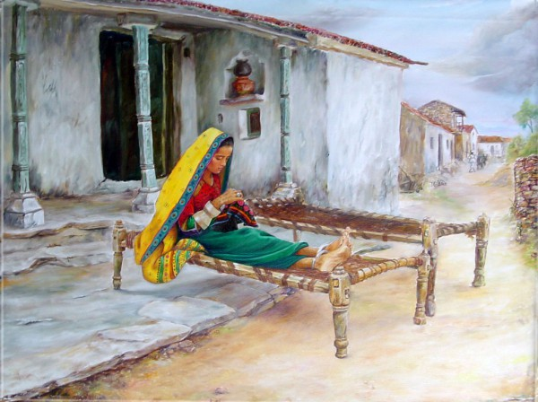 Painting - Village (9)